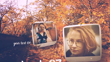 Autumn Slide After Effects Template