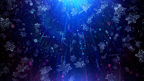 Christmas Blue Background 4K Animation