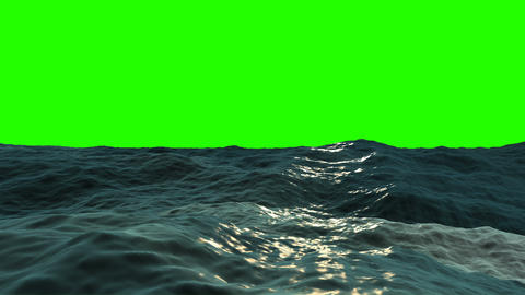 Ocean Waves on a Green Screen Animation