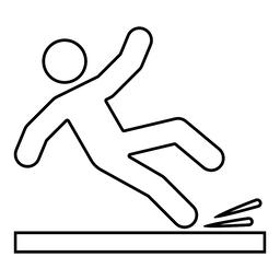 Falling man icon black color illustration outline ベクター