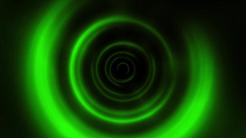 Green Round Waves Tunnel VJ Loop Motion Background GIF