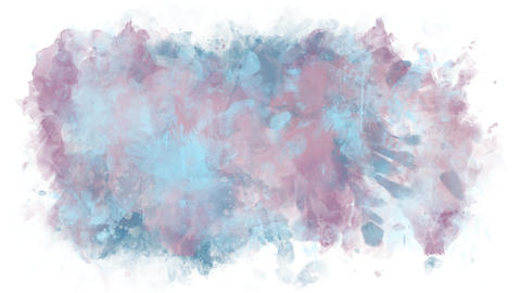 A stain of watercolor pastels Animation