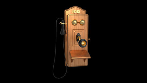 Vintage Wall Phone Animation