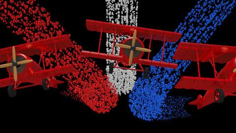 Bi Plane Flyover Animation GIF