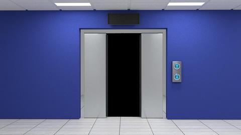 Elevator Door Animation GIF