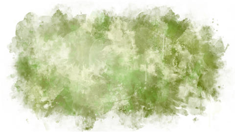 Green yellow paint stain Animation