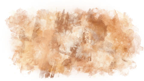 Light brown stain watercolor paint Animation