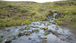 Hveragerdi Hot Springs river creek stream in Reykjadalur, Iceland Footage
