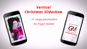 Vertical Christmas Slideshow After Effects Template