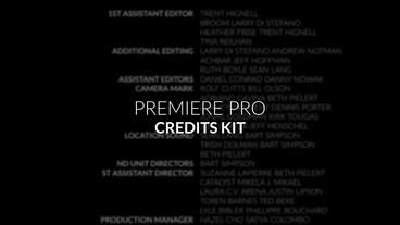 Film Credits Kit Premiere Pro Template
