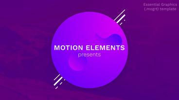 Modern Style Titles and Text モーショングラフィックステンプレート