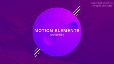Modern Style Titles and Text Motion Graphics Template
