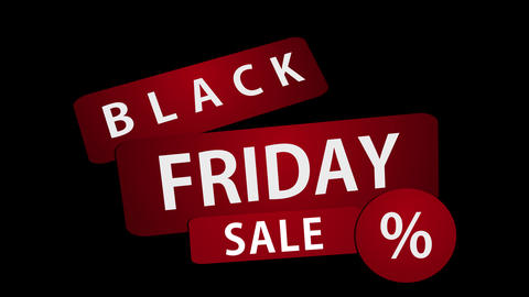 Black Friday Sale Clip Stock Video Footage