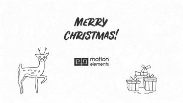 Hand Drawn Christmas Wishes After Effects Template