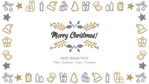 Merry Christmas Hand Drawn Pack After Effects Template