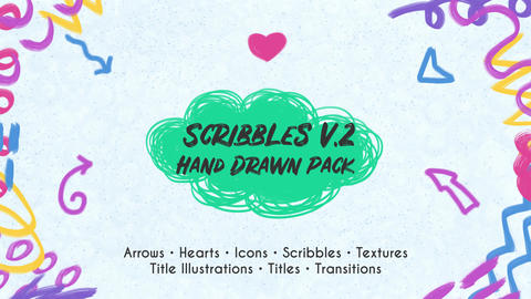 Scribbles. Hand Drawn Pack (Pr) 2
