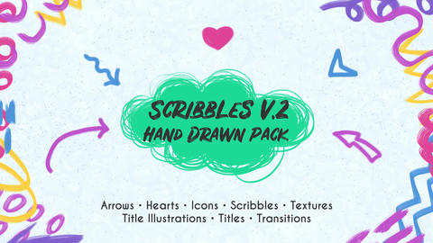 Scribbles v.2. Hand Drawn Pack After Effectsテンプレート