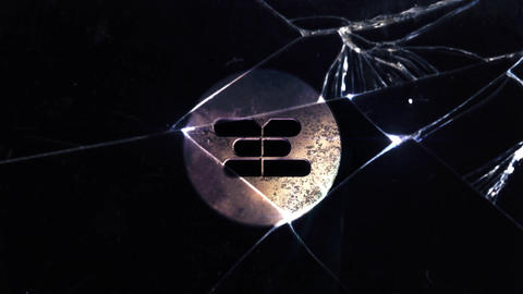 SMASH GLASS LOGO After Effects Template