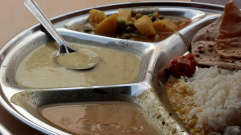 Indian Food Platter Indian Holi is a vegetarian food Footage