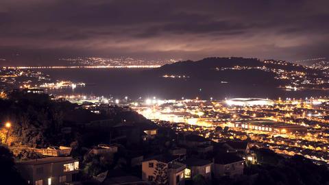 New Zealand Wellington at night Footage