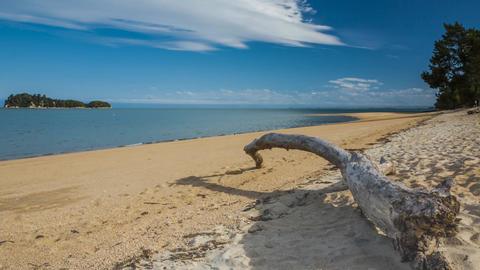 Beautiful summer beach timelapse Archivo