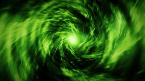 Green Energy Vortex Tunnel Loopable Motion Background Animación