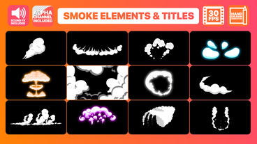 2DFX Smoke Elements And Titles After Effectsテンプレート