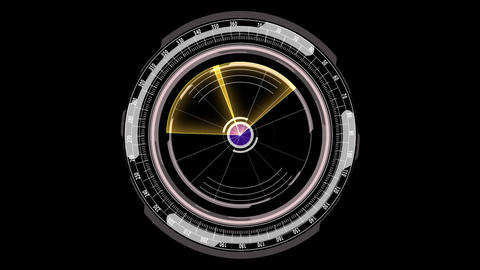 Science fiction hi-tech scanner design element rotating HUD After Effects Template