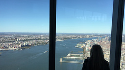 1007138 IMG 1437 NYC Tourists Silhouettes Enjoying City Panorama Footage