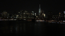 1007090 IMG 1220 NYC Downtown Manhattan Lights over East River Footage