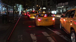 1007171 IMG 1591 NYC Yellow Cabs at Night ED Footage