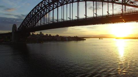 1008015 DJI 0229 Sydney Harbour Bridge Sunrise 5 stock footage