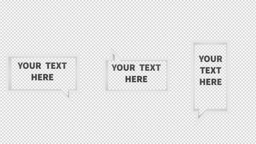 3D Dialogue Rectangles After Effects Template