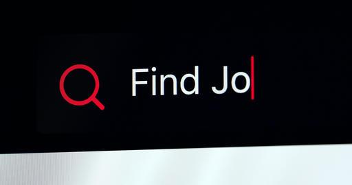 Words Find Job Written In Search Bar GIF