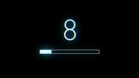 4k Connexion Preloader Bar With Countdown Animation