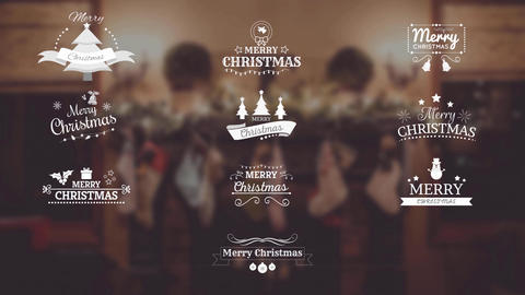 Christmas Titles Motion Graphics Template