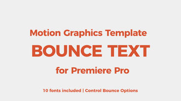 Bounce text tool Motion Graphics Template