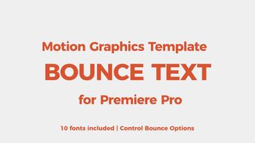 Bounce text tool モーショングラフィックステンプレート