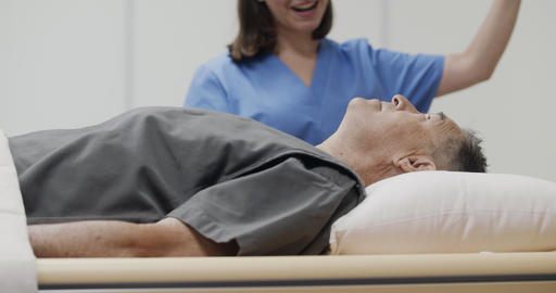 Medical Examination With MRI Magnetic Resonance Imaging Equipment In Hospital Live Action