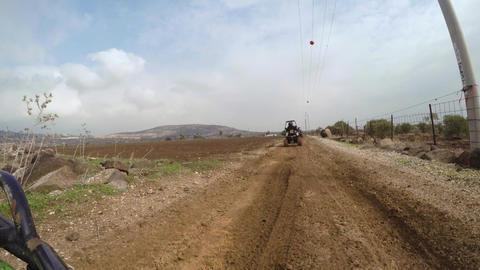 ATV ride on muddy dirt off road Footage