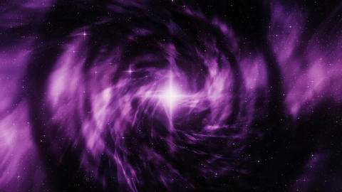 Purple Space Vortex with Starfield Loopable Motion Background Animation