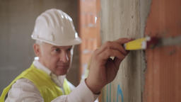 Busy White Man Working As Architect In Construction Site Live Action