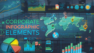 Colorful Corporate Infographic Elements 애프터 이펙트 템플릿