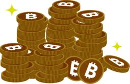 set of digital currency coin Vector