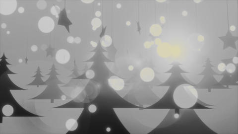 Foggy Christmas - 4k Cold Mysterious Winter Video Background Loop Animation