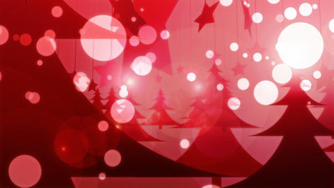 Red Christmas - 4k Glamorous Winter Video Background Loop Animation