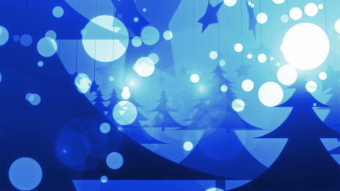 Blue Christmas - 4k 4k Stylish Christmas Video Background Loop Animation