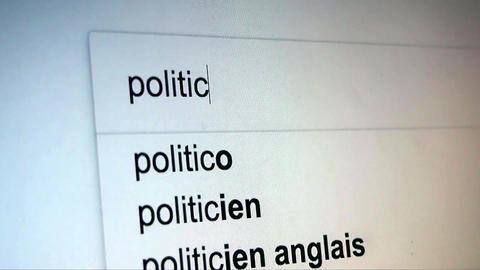 Searching Politics on Internet Live Action