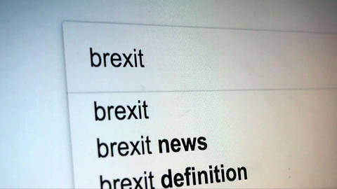 Searching Brexit on Internet Live Action