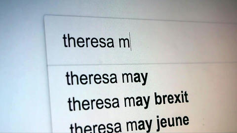 Searching Theresa May on Internet Footage